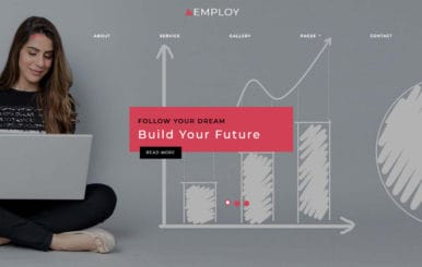 Employ HR Management Bootstrap Responsive Web Template