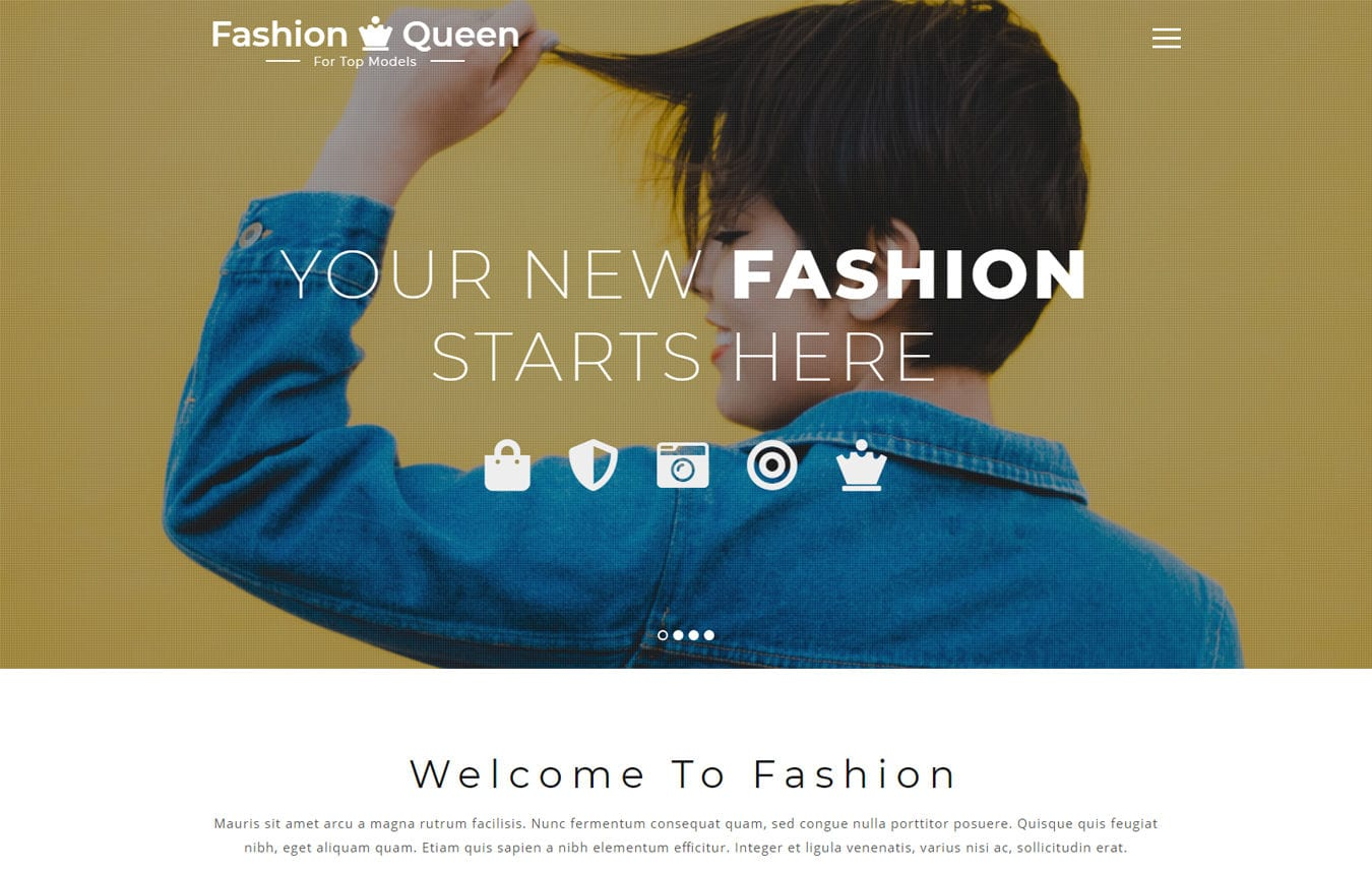 Fashion Queen Fashion Category Bootstrap Responsive Web Template. Mobile website template Free