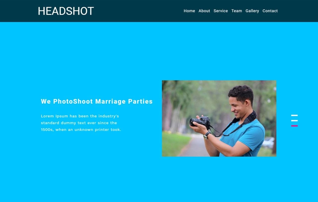 Headshot Photo Gallery Category Bootstrap Responsive Web Template Mobile website template Free