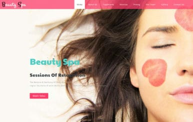 Beauty Spa Beauty Category Bootstrap Responsive Web Template