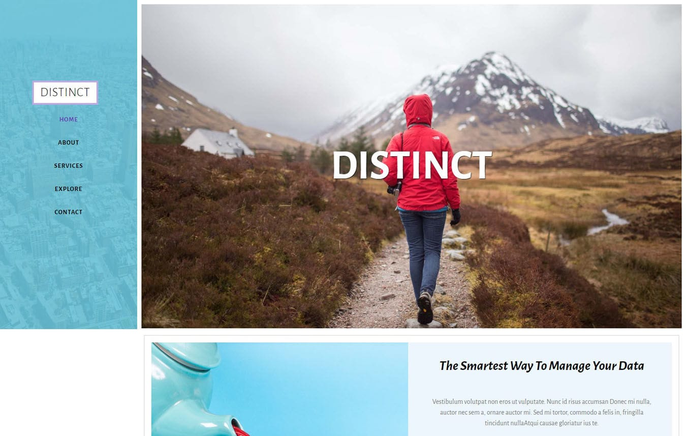 Distinct Multipurpose Category Bootstrap Responsive Web Template.