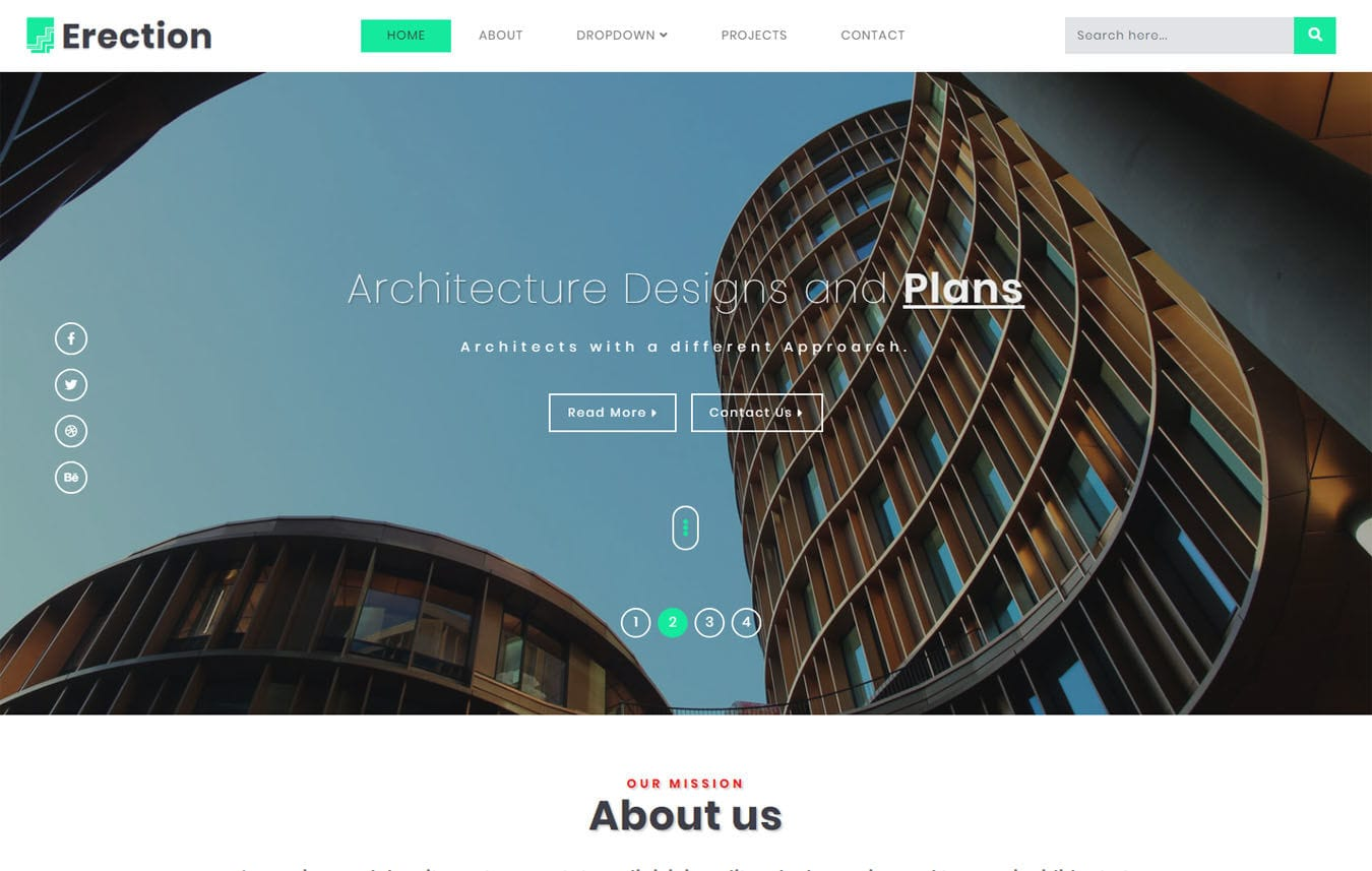 Erection Real estate Category Bootstrap Responsive Web Template. Mobile website template Free
