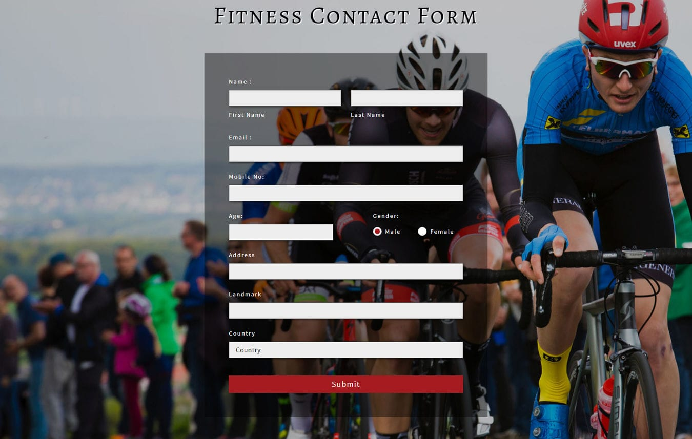 Fitness Contact Form Flat Responsive Widget Template Mobile website template Free