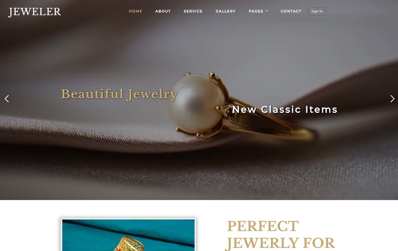 Jeweler a Fashion Category Bootstrap Responsive Web Template