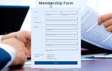 Membership Form Flat Responsive Widget Template