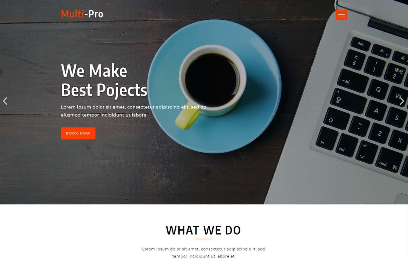 Multi-Pro a Landing-page Category Bootstrap Responsive Web Template