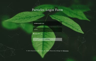 Particles Login Form Flat Responsive Widget Template.