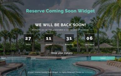Reserve Coming Soon Flat Responsive Widget Template