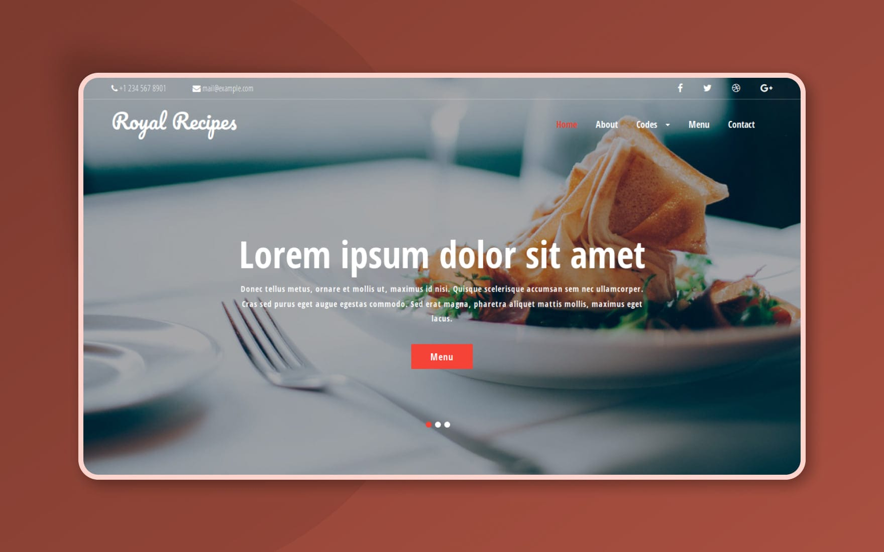 Royal Recipes a Hotels and Restaurants Category Flat Bootstrap Responsive Web Template