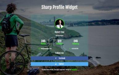 Sharp Profile Flat Responsive Widget Template