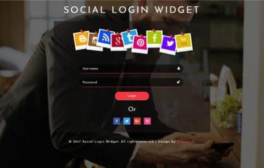 Social Login Widget a Flat Responsive Widget Template