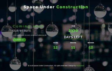 Space Under Construction Flat Responsive Widget Template