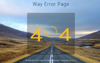Way Error Page Flat Responsive Widget Template