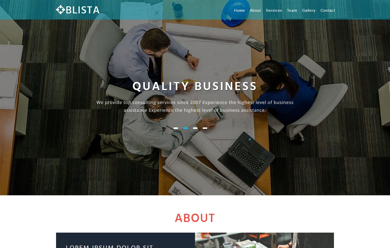 Blista Corporate Category Bootstrap Responsive Web Template
