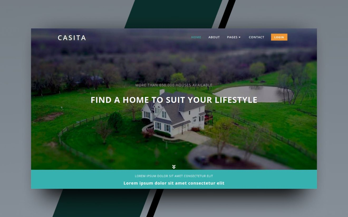 casita website template