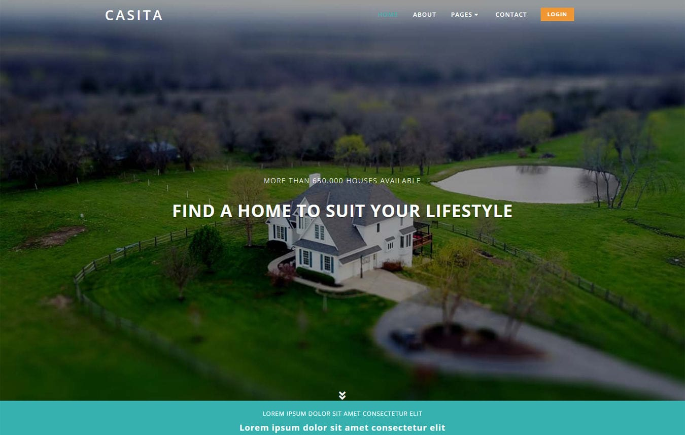 Casita a Real Estate Category Bootstrap Responsive Web Template Mobile website template Free
