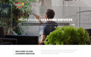 Cleaning Services – Home Service Category Bootstrap Responsive Template