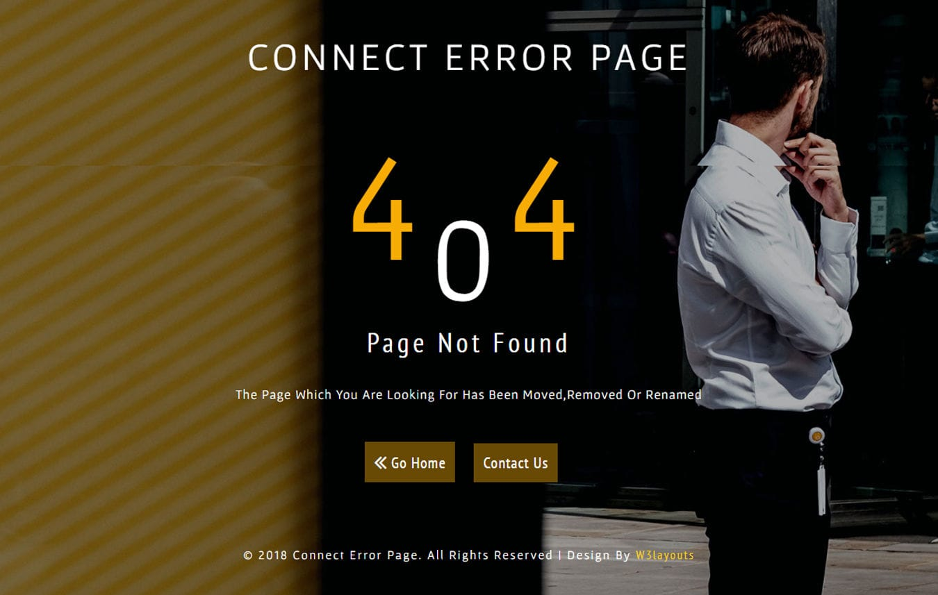 Connect Error Page Responsive Widget Template Mobile website template Free