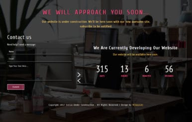 Entice Under Construction Responsive Widget Template