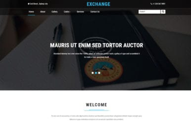 Exchange a Corporate Business Category Bootstrap Responsive Web Template