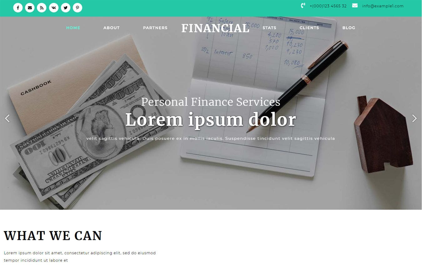 Financial Banking Category Bootstrap Responsive Web Template Mobile website template Free