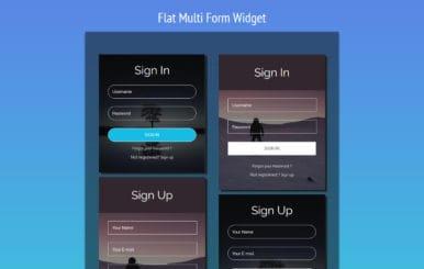Flat Multi Form Responsive Widget Template