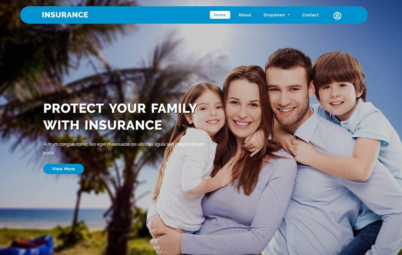Insurance a Finance Category Bootstrap Web Template