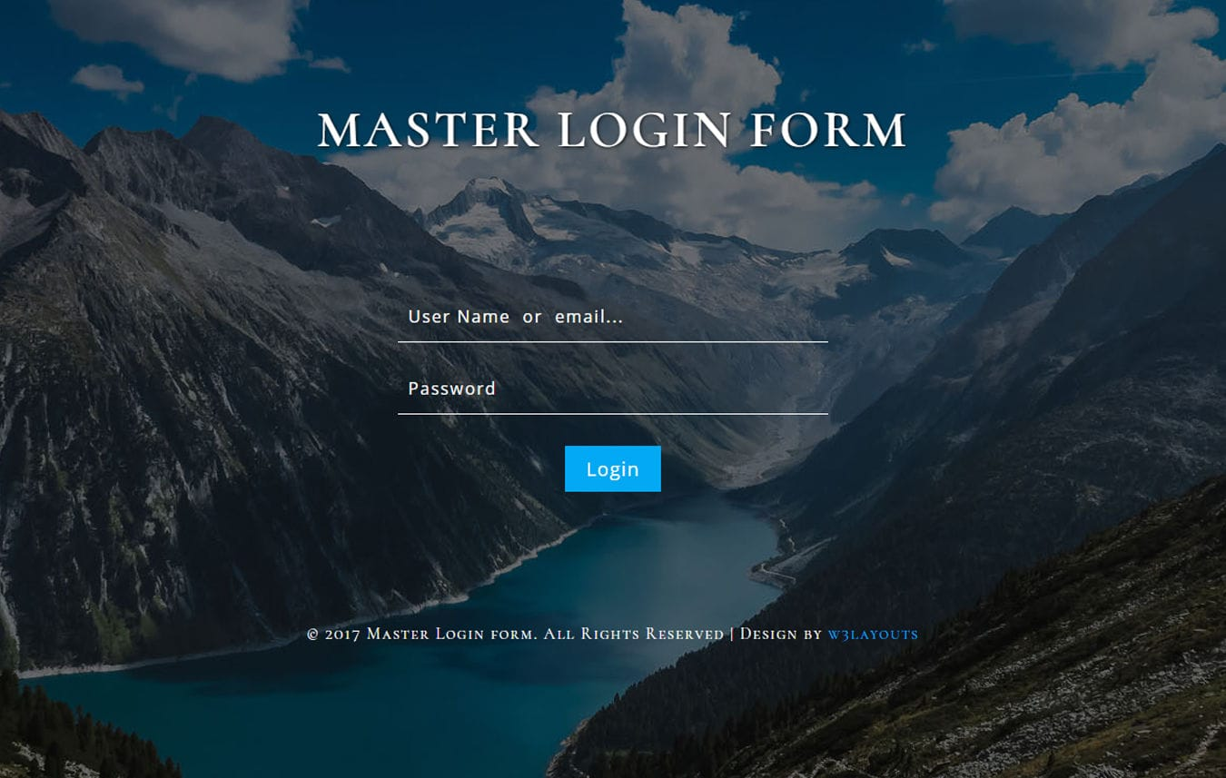 Master Login Form Flat Responsive Widget Template Mobile website template Free