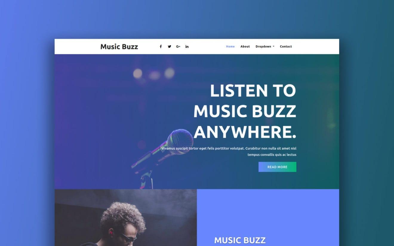 music-website-templates