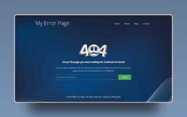 My Error Page Flat Responsive Widget Template