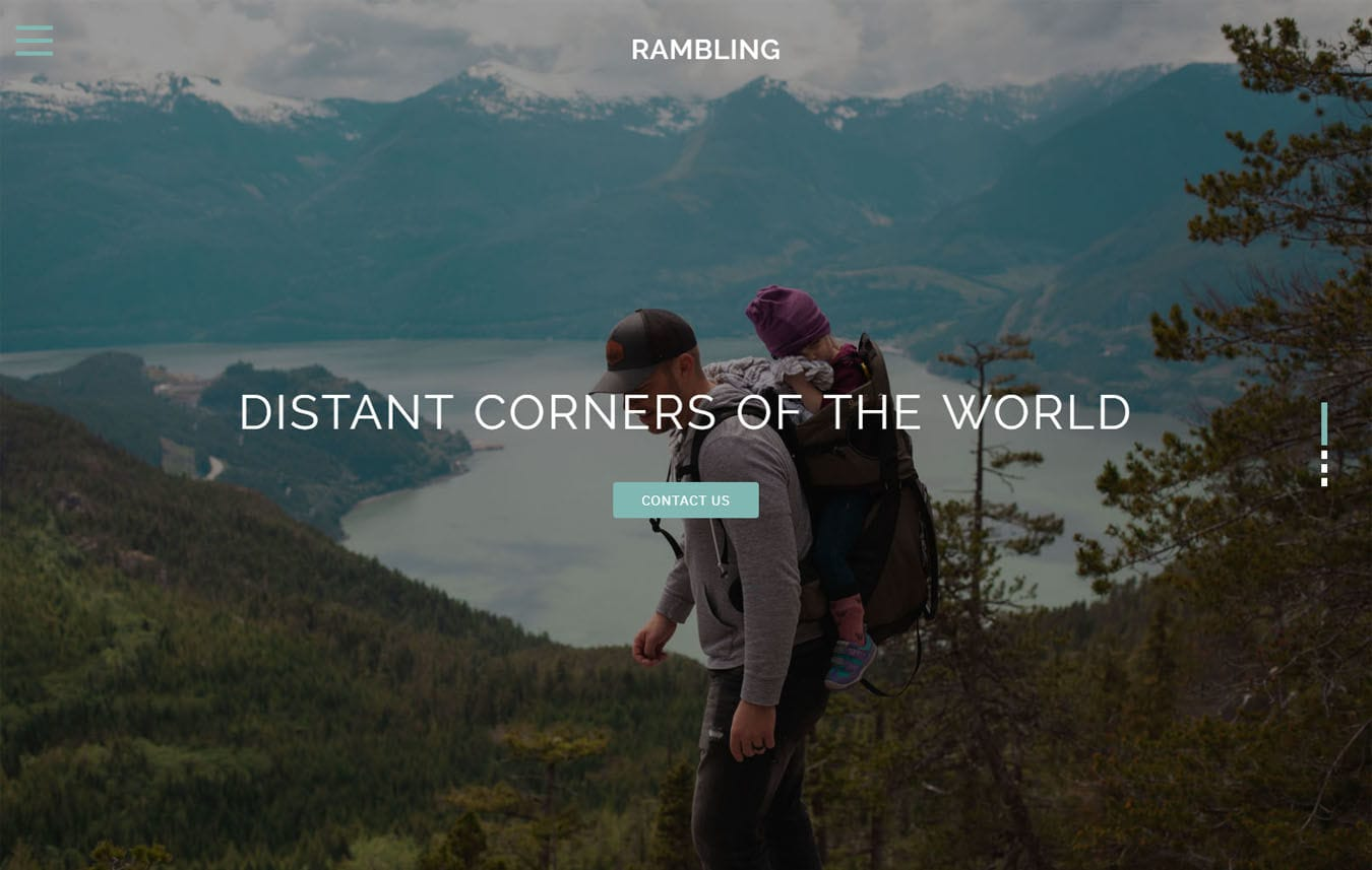 Rambling Travel Category Bootstrap Responsive Web Template Mobile website template Free