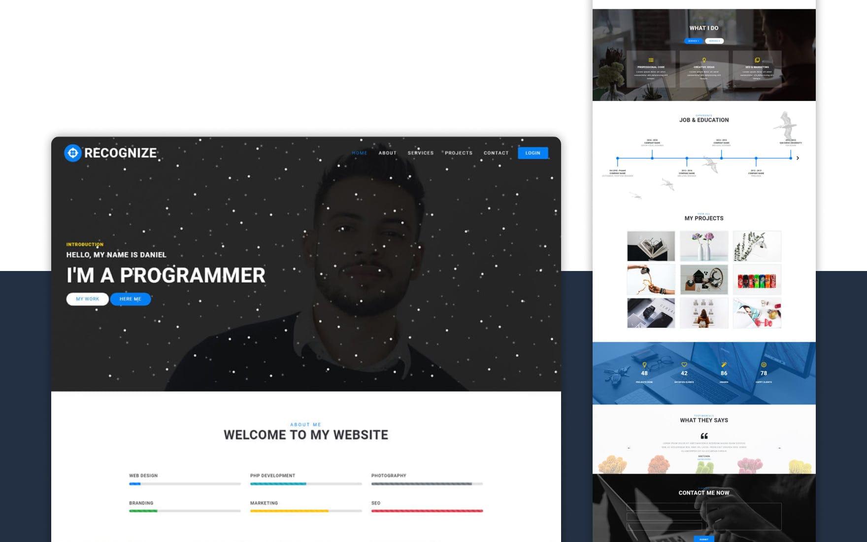 recognize-website-templates