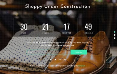 Shoppy Under Construction Flat Responsive Widget Template