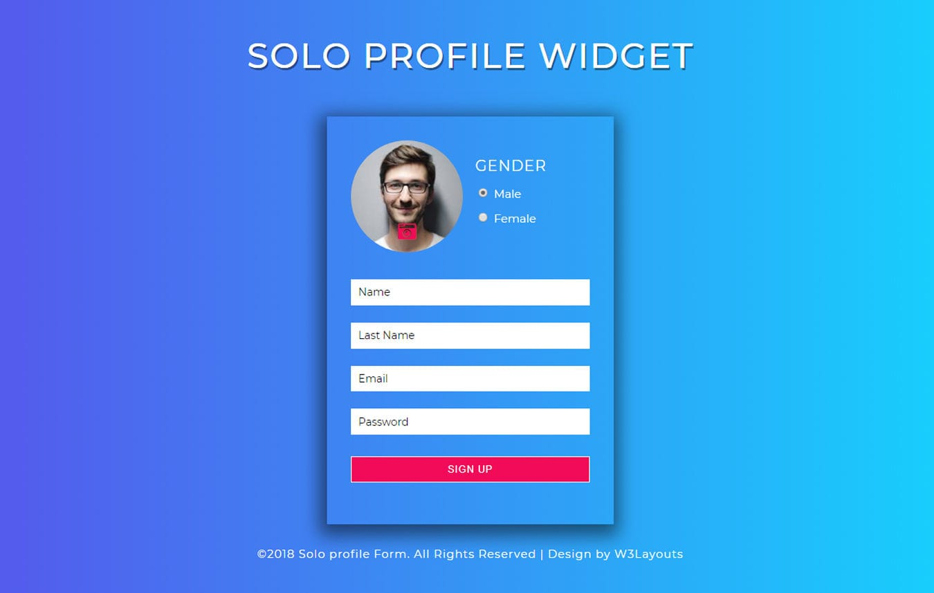 Solo Profile a Flat Responsive Widget Template Mobile website template Free