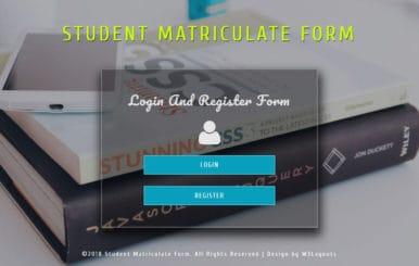 Student Matriculate Form Flat Responsive Widget Template
