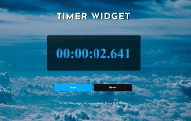 Timer Widget Flat Responsive Widget Template