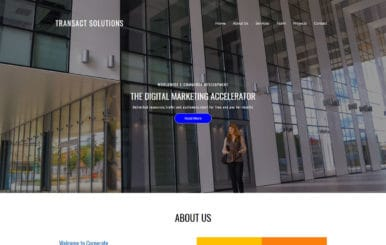 Transact Solutions Corporate Category Bootstrap Responsive Web Template