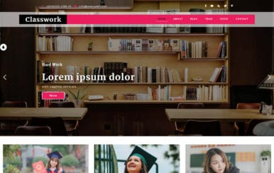 ClassWork an Education Category Flat Bootstrap Responsive Web Template