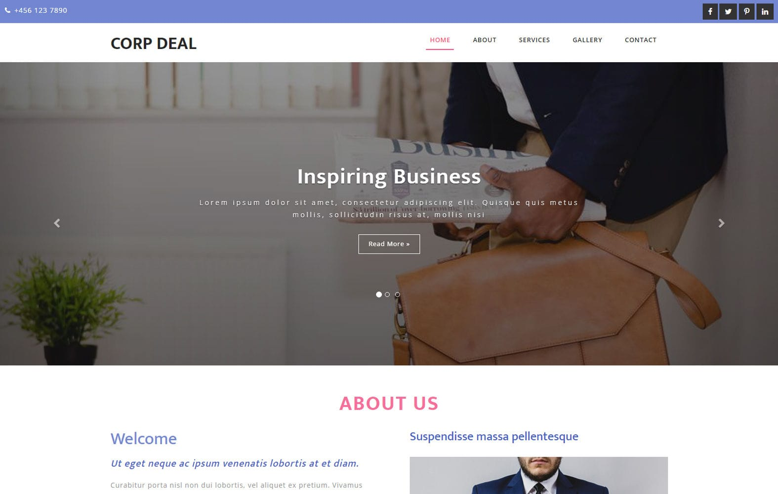Corp Deal a Business Category Bootstrap Responsive Web Template Mobile website template Free
