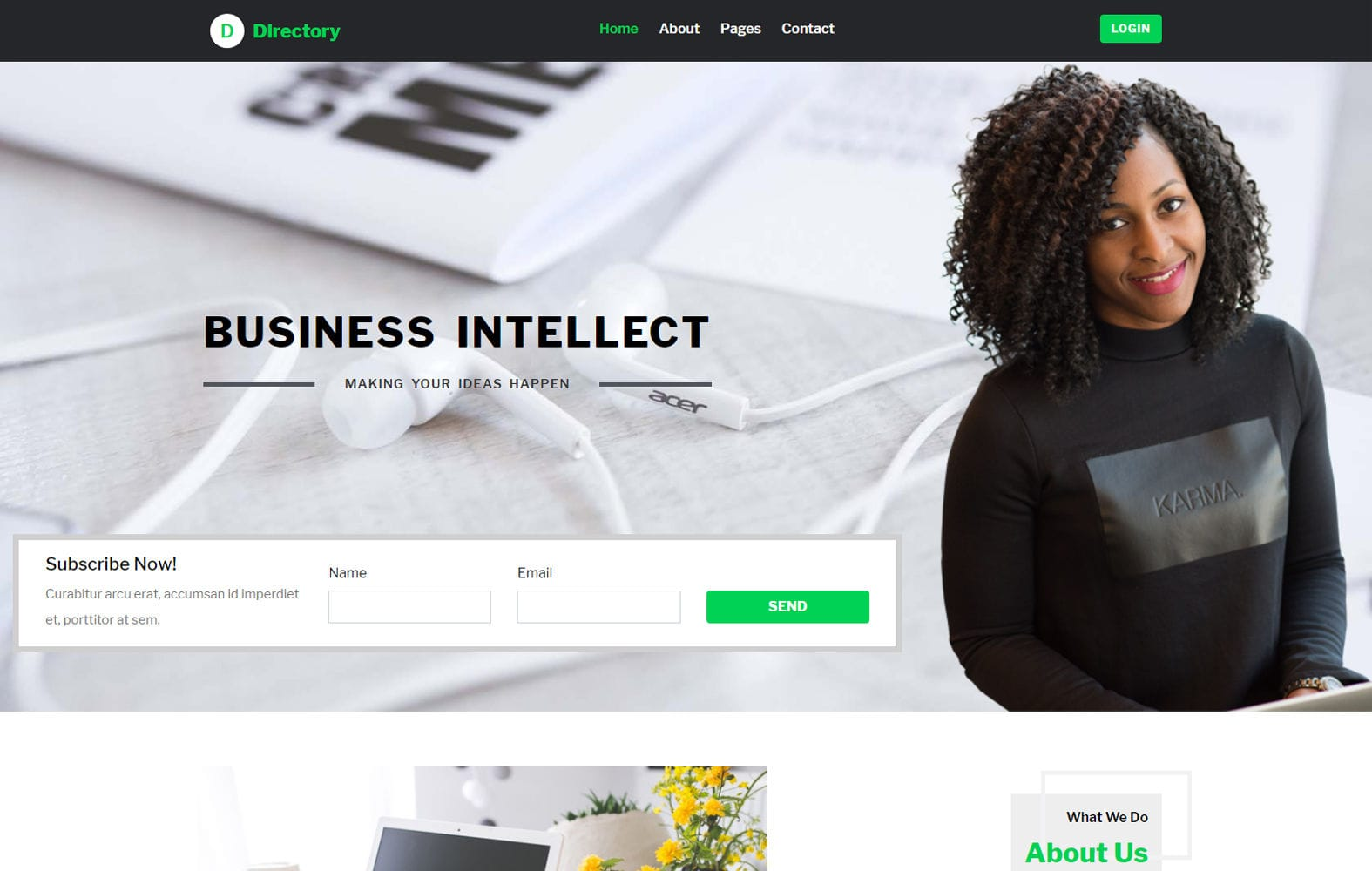 Directory a Business Category Bootstrap Web Template Mobile website template Free