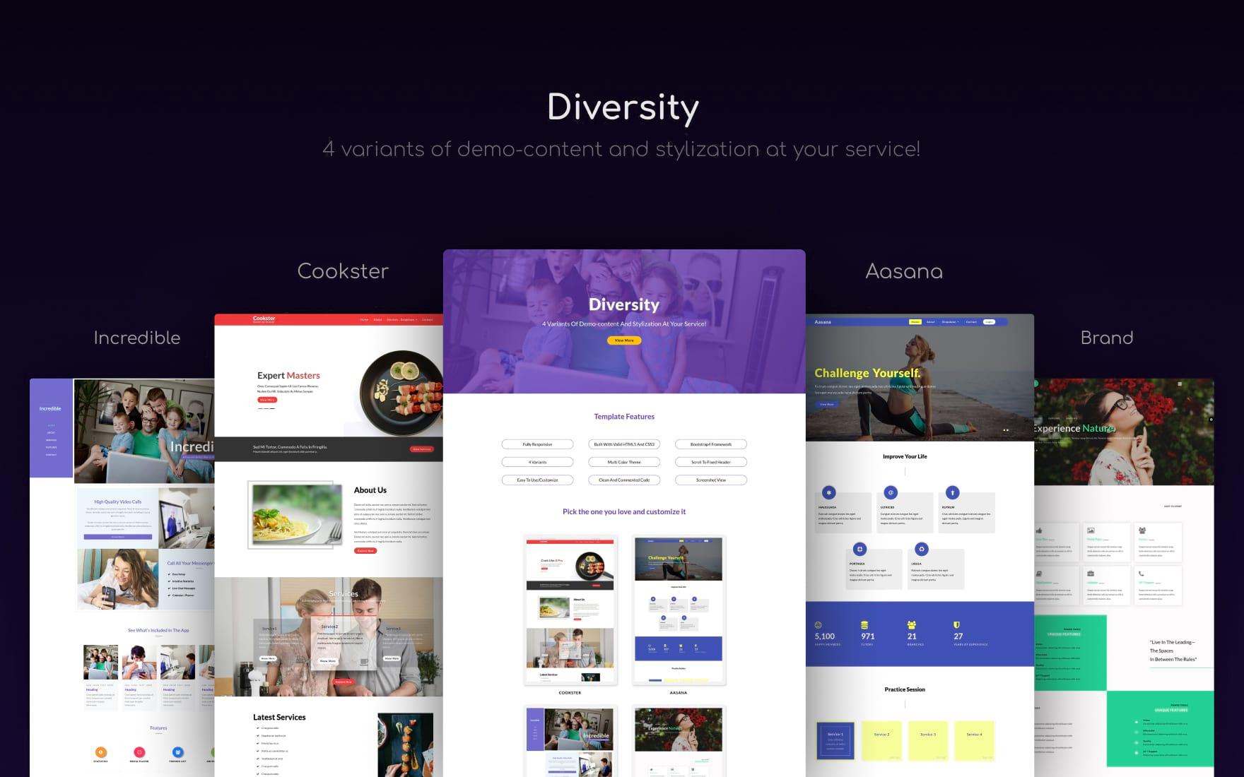 diversity website template