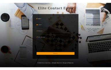 Elite Contact Form Flat Responsive Widget Template