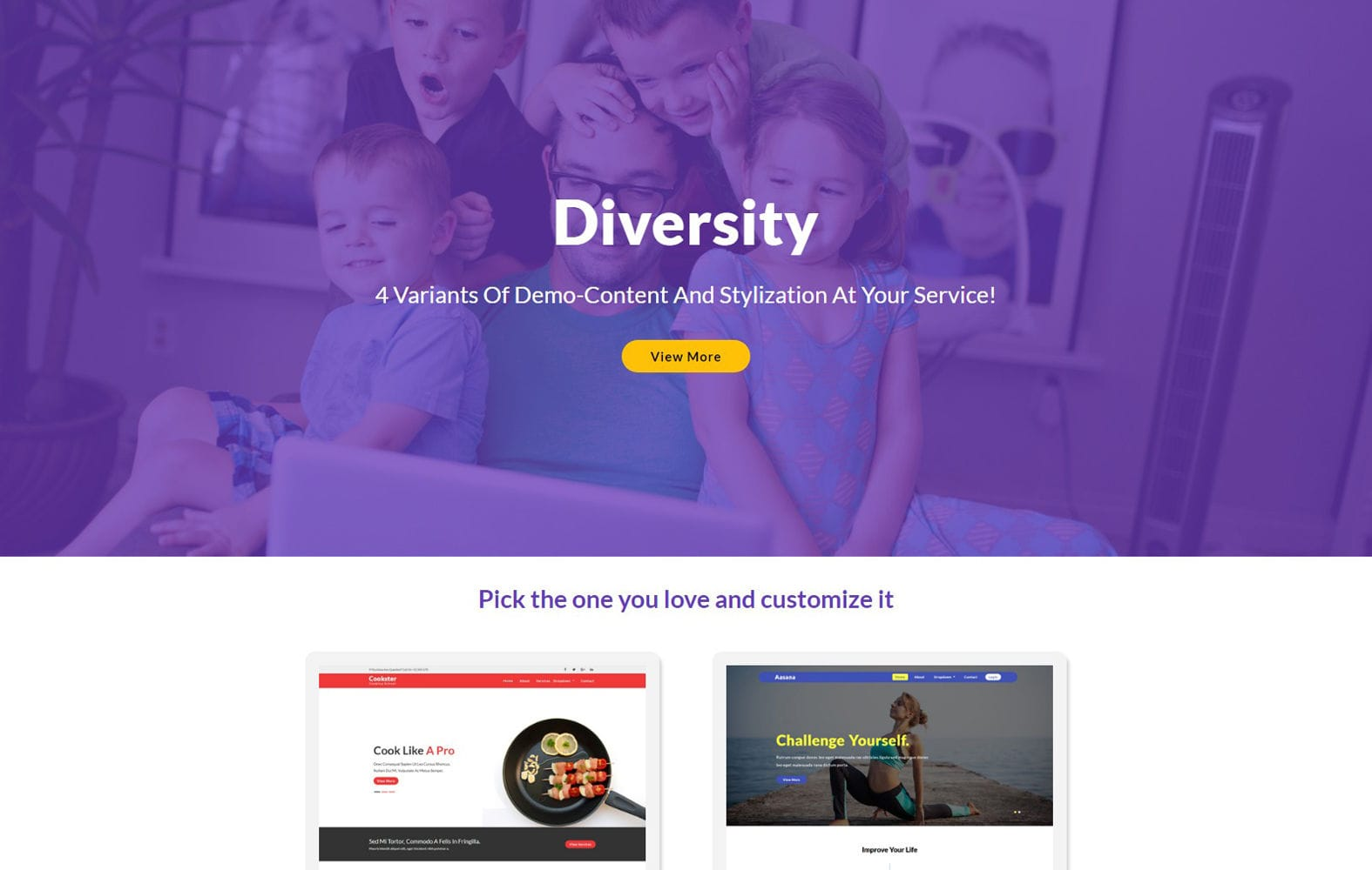 Diversity – Multipurpose Flat Bootstrap Responsive Web Template Mobile website template Free