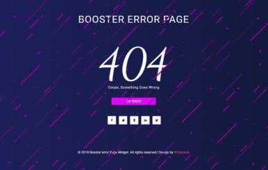 Booster Error Page Flat Responsive Widget Template.