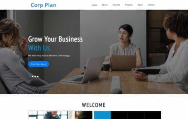 Corp Plan a Corporate Category Bootstrap Responsive Web Template.