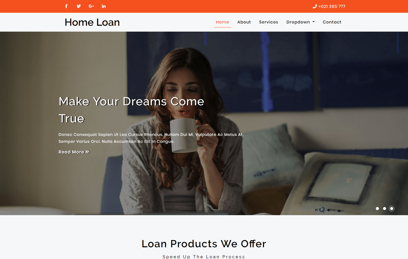 Home loan – Banking Category Bootstrap Responsive Web Template. Mobile website template Free