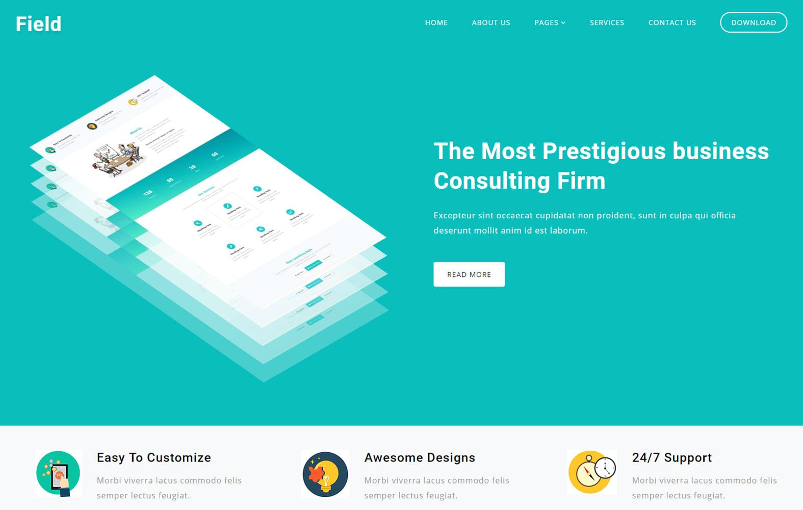 Field Corporate Business Category Bootstrap Responsive Web Template.
