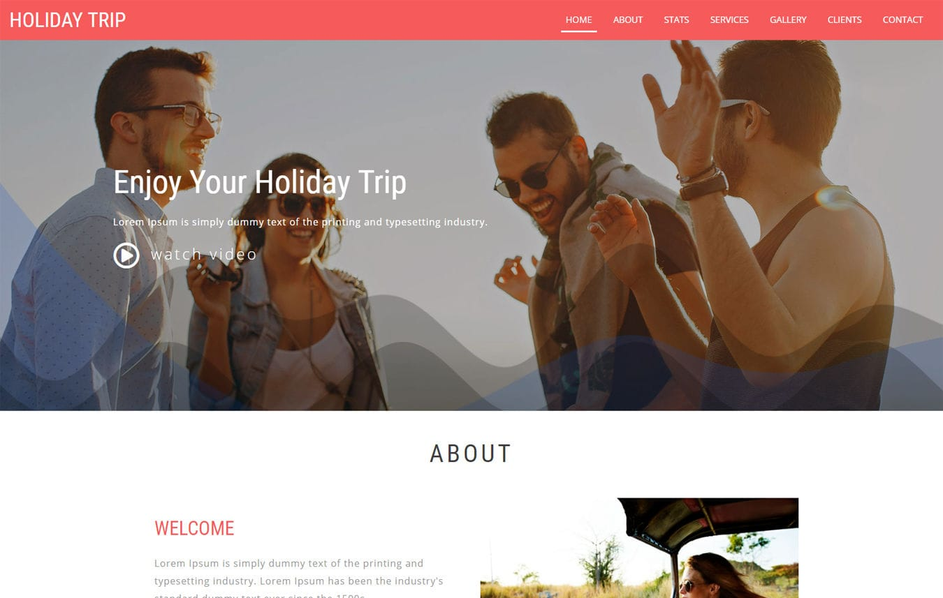 Holiday Trip a Travel Category Bootstrap Responsive Web Template