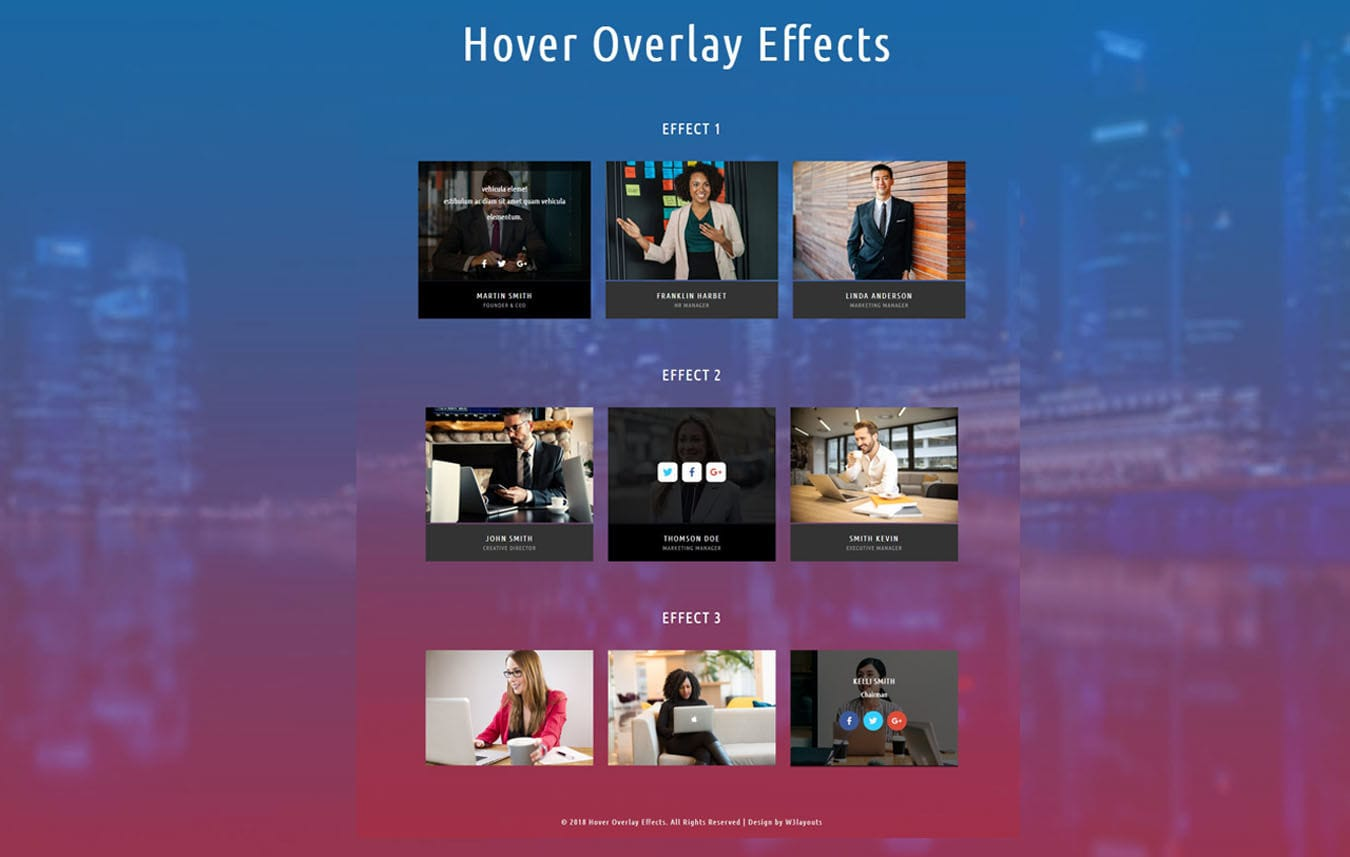 Hover Overlay Effects Flat Responsive Widget Template Mobile website template Free