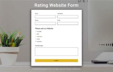 Rating Website Form Responsive Widget Template